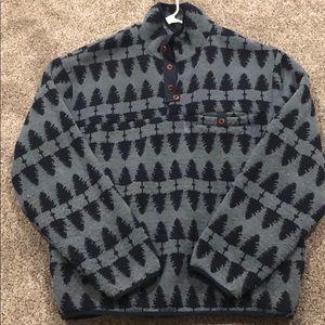 Men's 1/4 Button Up sweater sz L